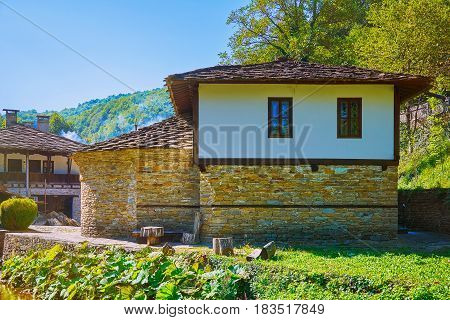 House on a Hill Slope in Gabrovo Region Bulgaria.