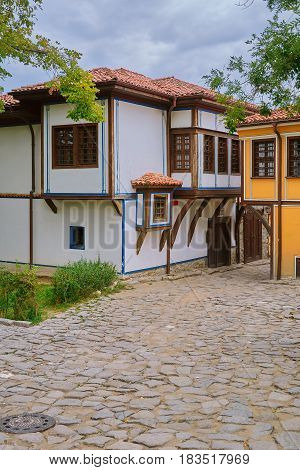 One of the Streets of an Old Plovdiv Bulgaria