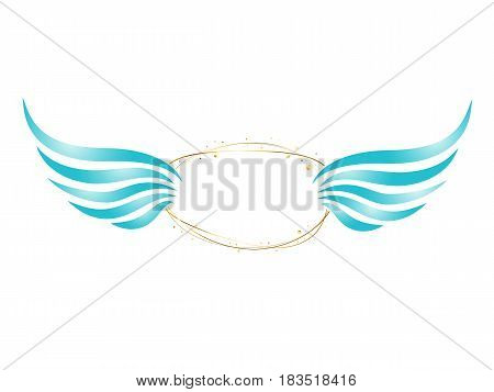Abstract Angel Frame With Wings and Copyspace for Your Text