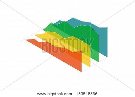 Business infographic diagram vector illustration isolated on white background. Financial diagram, analytical infochart icon