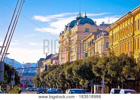 City Of Rijeka Waterfront Steet Architecture View