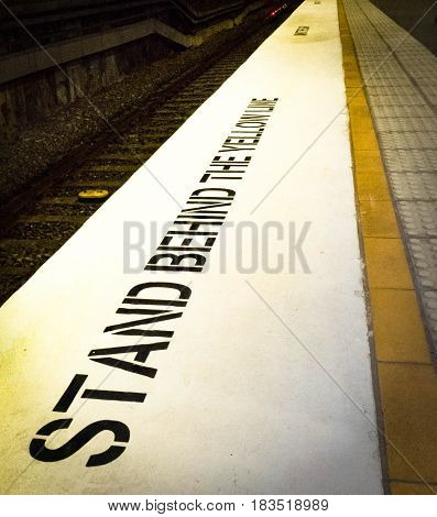 Stand behind the yellow line for safety