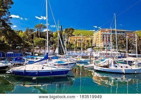 Adriatic Town Of Opatija Turquoise Harbor View