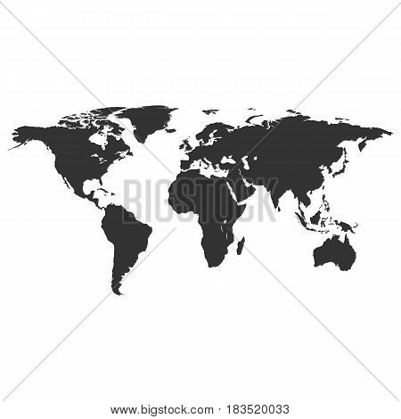 world map vector isolated on background. Vector illustration. Eps 10.