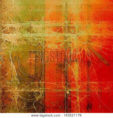 Abstract grunge background or damaged vintage texture. With different color patterns: yellow (beige); gray; brown; green; red (orange)