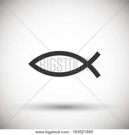 Christian Fish Symbol icon isolated on background. Vector illustration. Eps 10.