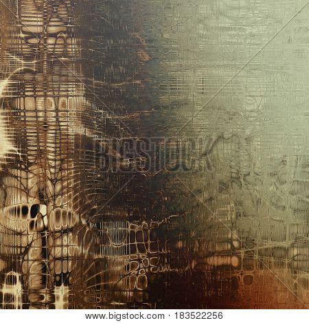 Abstract retro design composition. Stylish grunge background or texture with different color patterns: yellow (beige); brown; green; gray