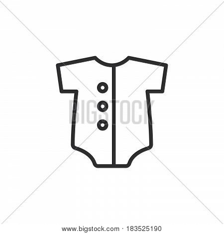 668234854d8 Baby romper line icon outline vector sign linear style pictogram isolated  on white. Symbol logo