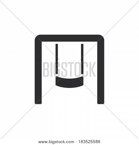Playground swing set icon vector filled flat sign solid pictogram isolated on white. Symbol logo illustration. Pixel perfect