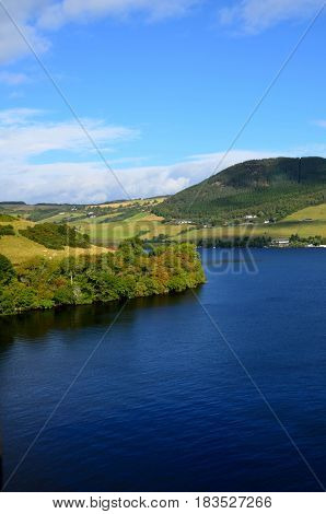 A look at the Loch Ness winding through the Scottish Highlands.