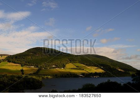 Scotland's landscape surrounding Loch Ness on a Spring day.