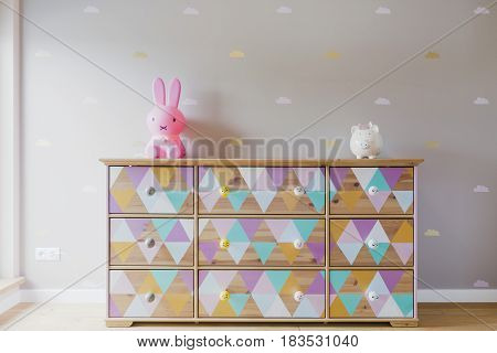 Diy Colorful Commode In Pastel Girl Room