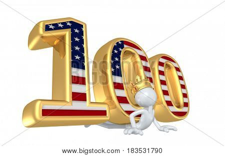 The King Of America First 100 Days 3D Illustration