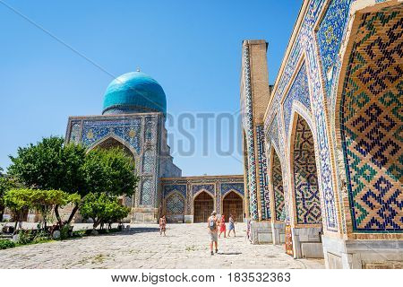 Atrium Garden At Registan, Samarkand