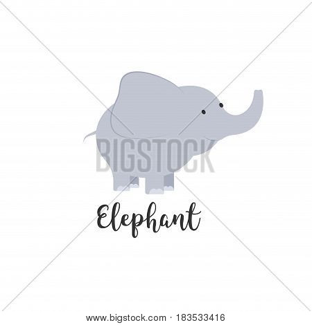 Cute cartoon baby elephant. Adorable elephant illustrations for greeting cards and baby shower invitation design