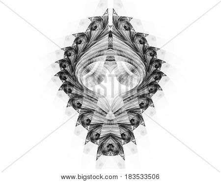Abstract fractal background looks like lacy ornate