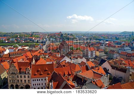 historical center of Meissen in saxony Germany