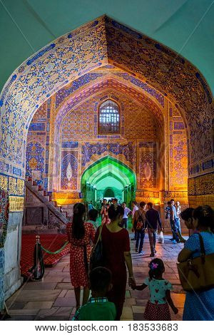 Interior Of Tilya Kori Madrasah, Registan, Samarkand