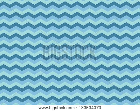 Blue Zigzag Textured Fabric Pattern Background seamless
