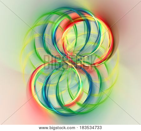 Abstract fractal illustration for creative design looks like ball