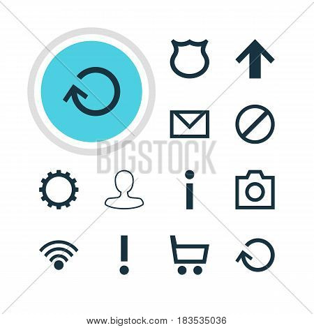 Vector Illustration Of 12 Member Icons. Editable Pack Of Wheelbarrow, Renovate, Man Member And Other Elements.