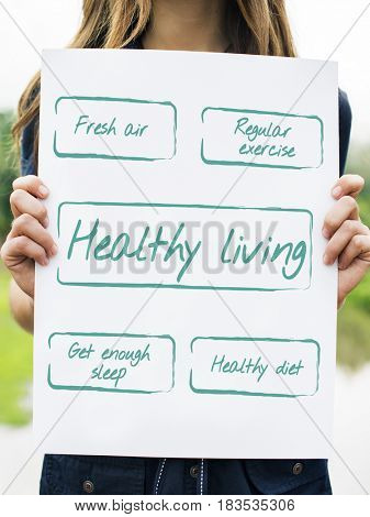 Lifestyle Planning Healthy Living Illustration