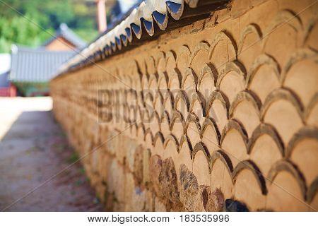 In south korea, Brick wall at Gyeongbokgung Palace