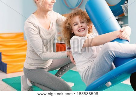 Child On Pediatric Swing