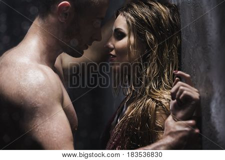 Man Looking At Lover With Desire
