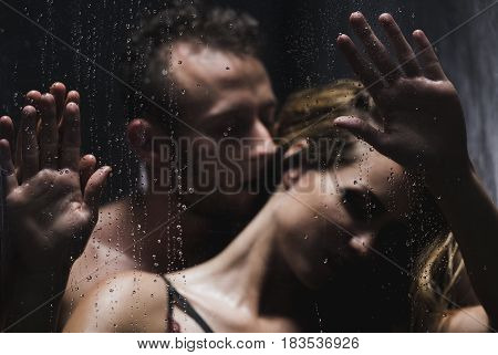 Man Whispering To Woman During Foreplay