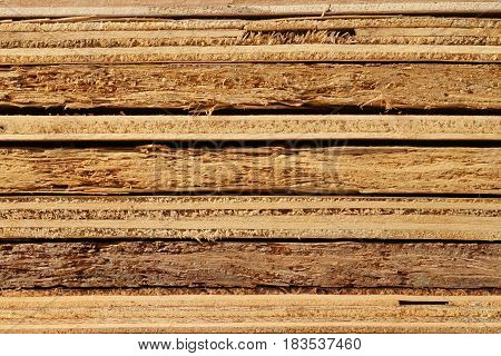 Stack of old various plywood texture background
