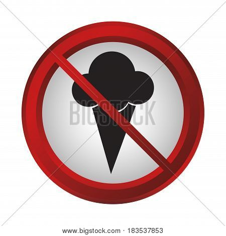 no food sign icon over white background. colorful design. vector illustration