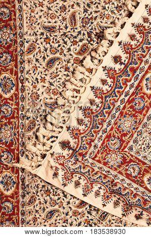 Close-up of persian carpets Iranian carpets and rugs.