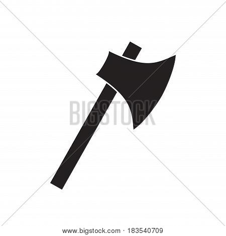 ax weapon icon over white background. vector illustration