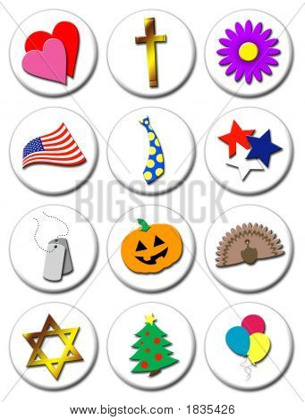 Illustrated Holiday Icons