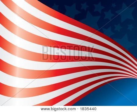 Waving American Flag Art