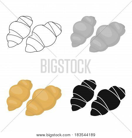 Gnocchi pasta icon in cartoon style isolated on white background. Types of pasta symbol vector illustration.
