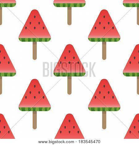 Seamless Watermelon Pattern Background Vector Illustration.