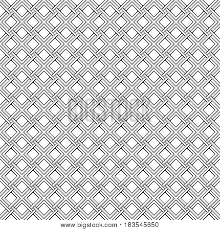 Seamless Gothic pattern weave diagonal lines stripes Modern stylish texture. Geometric striped ornament.Vector linear monochrome twisted braids