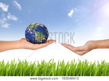 Earth Planet The Hand