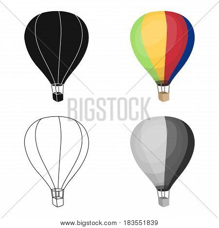 Airballoon icon in cartoon design isolated on white background. Rest and travel symbol stock vector illustration.