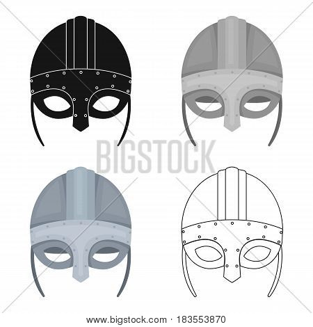 Viking helmet icon in cartoon design isolated on white background. Vikings symbol stock vector illustration.