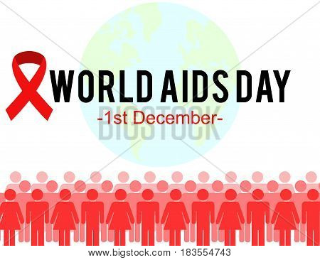 World Aids Day concept banner graphic design