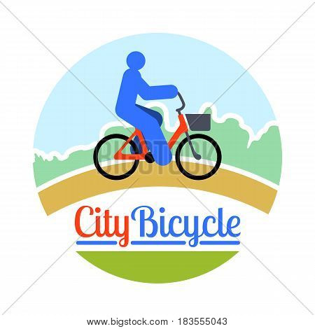 Abstract Person Bicycle Ride