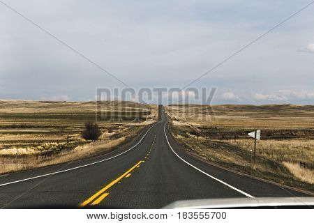 Empty Highway In Remote Countryside