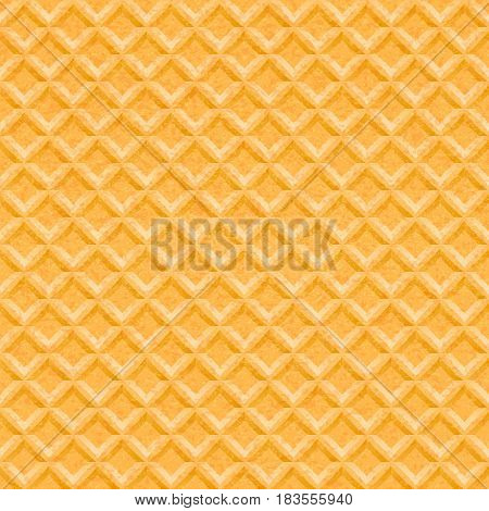 Wafer seamless vector background. Sweet texture. Waffel bakery pattern.