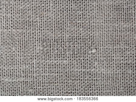 Sackcloth gray texture background. Natural fabric linen texture for design, sackcloth textured. Brown canvas background. Cotton.