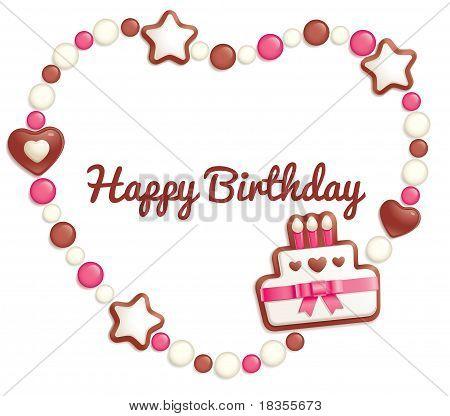 Birthday candy frame