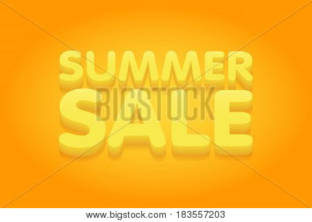 Summer Sale Yellow And Orange Banner Vector Illustration