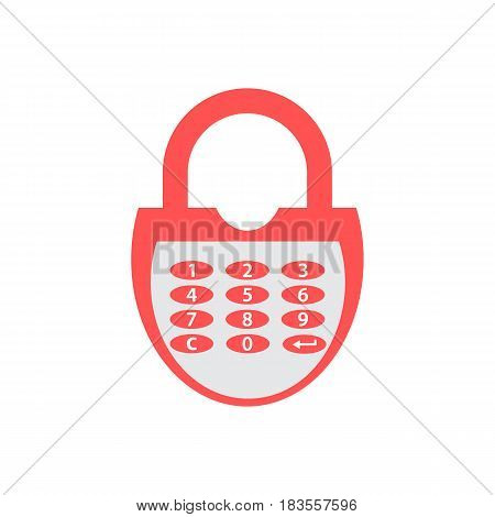 Stylized Icon Of A Colored Combination Lock